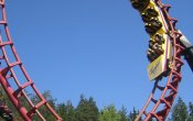 photos of Loopen roller coaster in Tusenfryd theme park