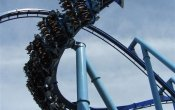 photos of Manta roller coaster in Sea World Orlando theme park