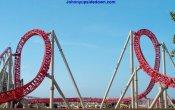 fotos de la montaña rusa Maverick en el parque temático Cedar Point