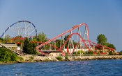 photos of Maverick roller coaster in Cedar Point theme park