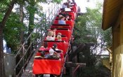 photos of Mini Mine Train roller coaster in Six Flags Over Texas theme park