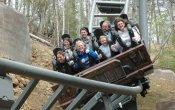 fotos de la montaña rusa Mystery Mine en el parque temático Dollywood