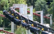 photos of Ninja roller coaster in Six Flags Magic Mountain theme park