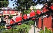 photos of Nyckelpigan roller coaster in Gröna Lund theme park