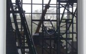 photos of Dark Knight roller coaster in Six Flags Great America theme park