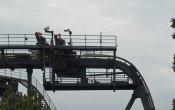fotos de la montaña rusa Oblivion en el parque temático Alton Towers