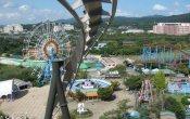photos of Phaethon roller coaster in Gyeongju World theme park