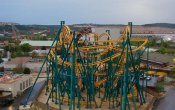 photos of Poltergeist roller coaster in Six Flags Fiesta Texas theme park
