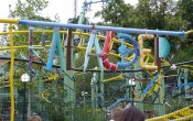 fotos de la montaña rusa Rabalder en el parque temático Liseberg