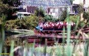 fotos de la montaña rusa Runaway Mine Train en el parque temático Six Flags Great Adventure