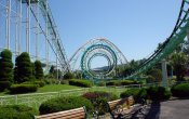photos of Screw Coaster roller coaster in Nara Dreamland theme park