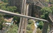 fotos de la montaña rusa Medusa en el parque temático Six Flags Mexico