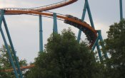 photos of Goliath roller coaster in Six Flags Over Georgia theme park