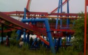 photos of Superman: Ultimate Flight roller coaster in Six Flags Over Georgia theme park
