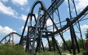 photos of Batman The Ride roller coaster in Six Flags St. Louis theme park