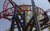 fotos de la montaña rusa Big Spin en el parque temático Six Flags St. Louis
