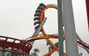 photos of Silver Bullet roller coaster in Knott's Berry Farm theme park