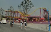 fotos de la montaña rusa Spining Coaster en el parque temático Happy Valley Shanghai