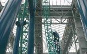 photos of SpongeBob SquarePants Rock Bottom Plunge roller coaster in Nickelodeon Universe  theme park