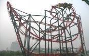 photos of Stingray roller coaster in Giant Wheel Park of Suzhou theme park
