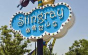 photos of Stingray roller coaster in Giant Wheel Park of Suzhou theme park