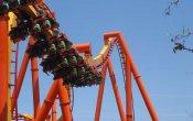 fotos de la montaña rusa Tatsu en el parque temático Six Flags Magic Mountain