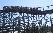fotos de la montaña rusa Thundercoaster en el parque temático Tusenfryd