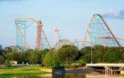 photos of Titan roller coaster in Six Flags Over Texas theme park