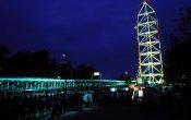 fotos de la montaña rusa Top Thrill Dragster en el parque temático Cedar Point