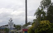 photos of Tower of Terror II roller coaster in Dreamworld theme park