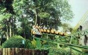 fotos de la montaña rusa Tsunami en el parque temático Six Flags Mexico