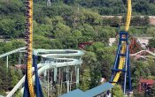 photos of Vertical Velocity roller coaster in Six Flags Great America theme park