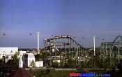 photos of Whizzer roller coaster in Six Flags Great America theme park
