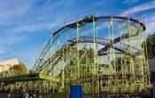 fotos de la montaña rusa Wildcat en el parque temático Cedar Point