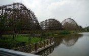 fotos de la montaña rusa Wooden Coaster - Fireball en el parque temático Happy Valley Shanghai