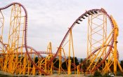 photos of X2 roller coaster in Six Flags Magic Mountain theme park