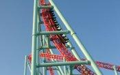 fotos de la montaña rusa Xcelerator en el parque temático Knott's Berry Farm