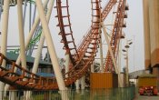 photos of Boomerang roller coaster in Parque de la Costa theme park